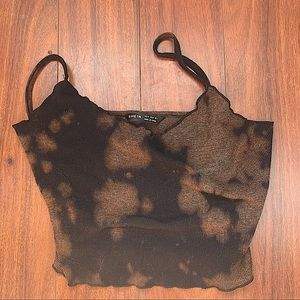 SHEIN BLACK CAMI TOP SHIRT with BLEECH STAINS